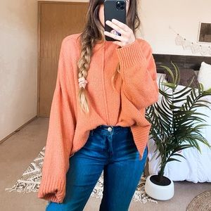 Leith Salmon Pink Oversized Sweater